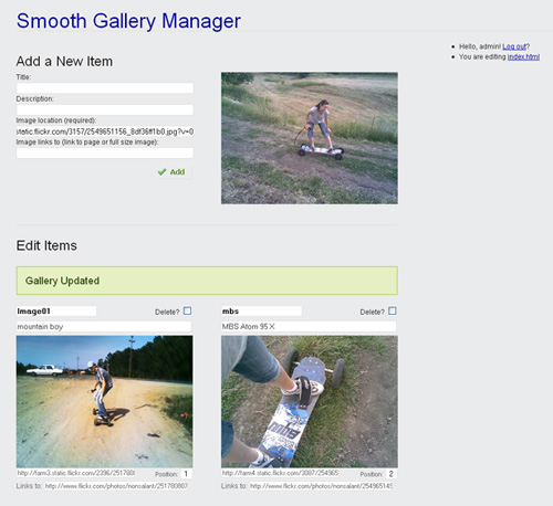 Smooth Gallery Manager